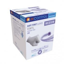 InControl Cuff First Vinyl (Powder Free) Clear Gloves